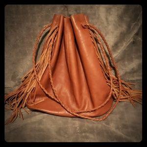 TopShop Leather Hobo Bag w/ Fringe